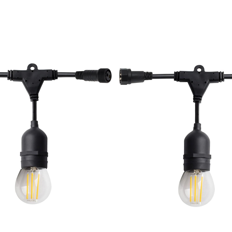Guirnalda-Waterproof-IP65-con-8-Portalamparas-E27-5-5m-Blanco miniatura 12