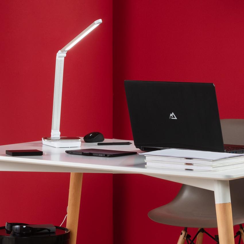 Flexo LED Cia 5W Regulable con Cargador Inalámbrico