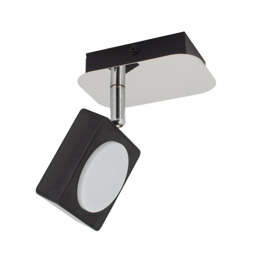 Aplique LED Orientável Capri 1 Foco 6W Preto