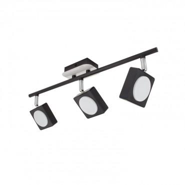 Lámpara 18W LED de Capri 3 Focos Techo Negro Orientable H92WDYeIE