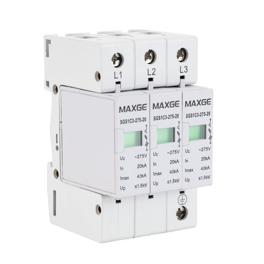 Protector Sobretensão Transitorias MAXGE 3P-Clase II-40kA-20kA-1,2kV