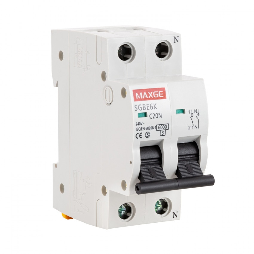 Disjuntor Automático Residencial MAXGE 1P+N-6kA 6-40A