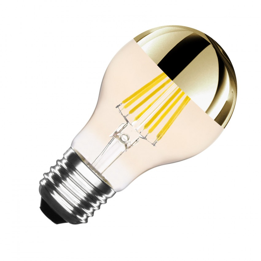 Bombilla LED E27 Regulable Filamento Smoke Gold Reflect Classic A60 5.5W