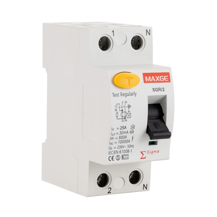 Interruptor Diferencial Residencial MAXGE 2P-300mA-Clase AC-10kA
