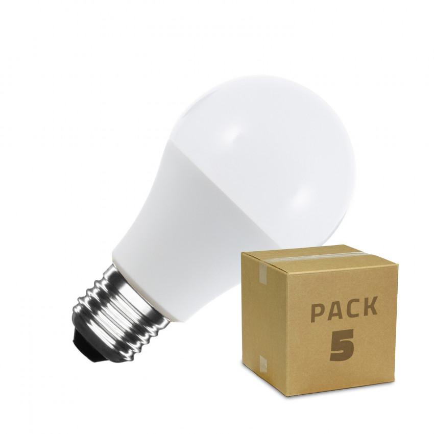Pack 5 Lâmpadas LED E27 A60 9W