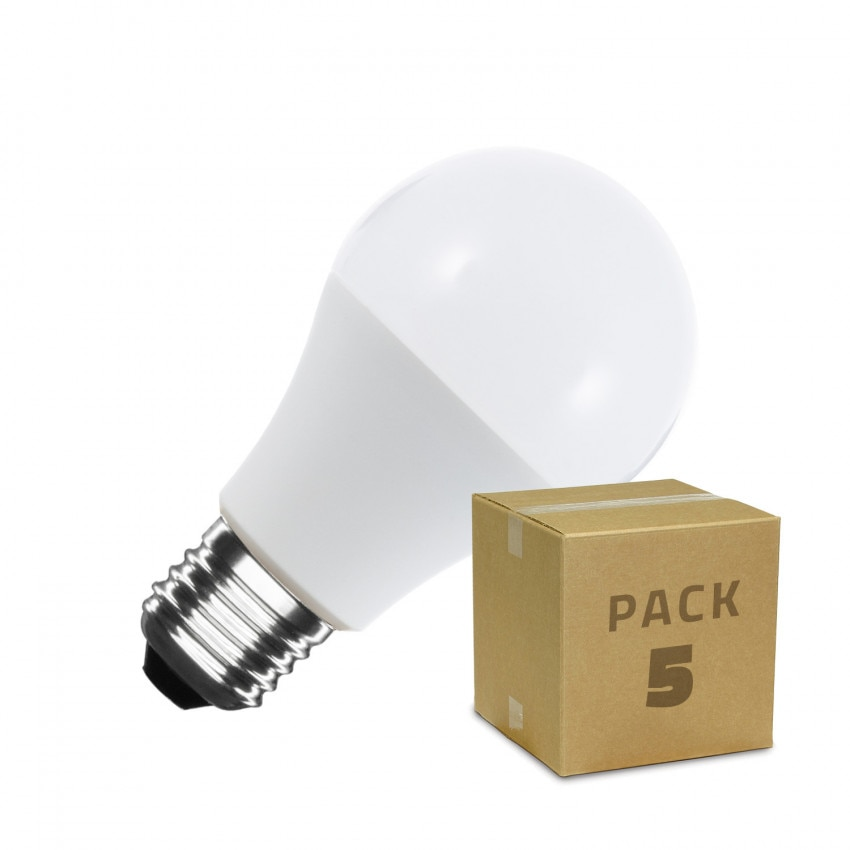 Pack 5 Bombillas LED E27 A60 9W