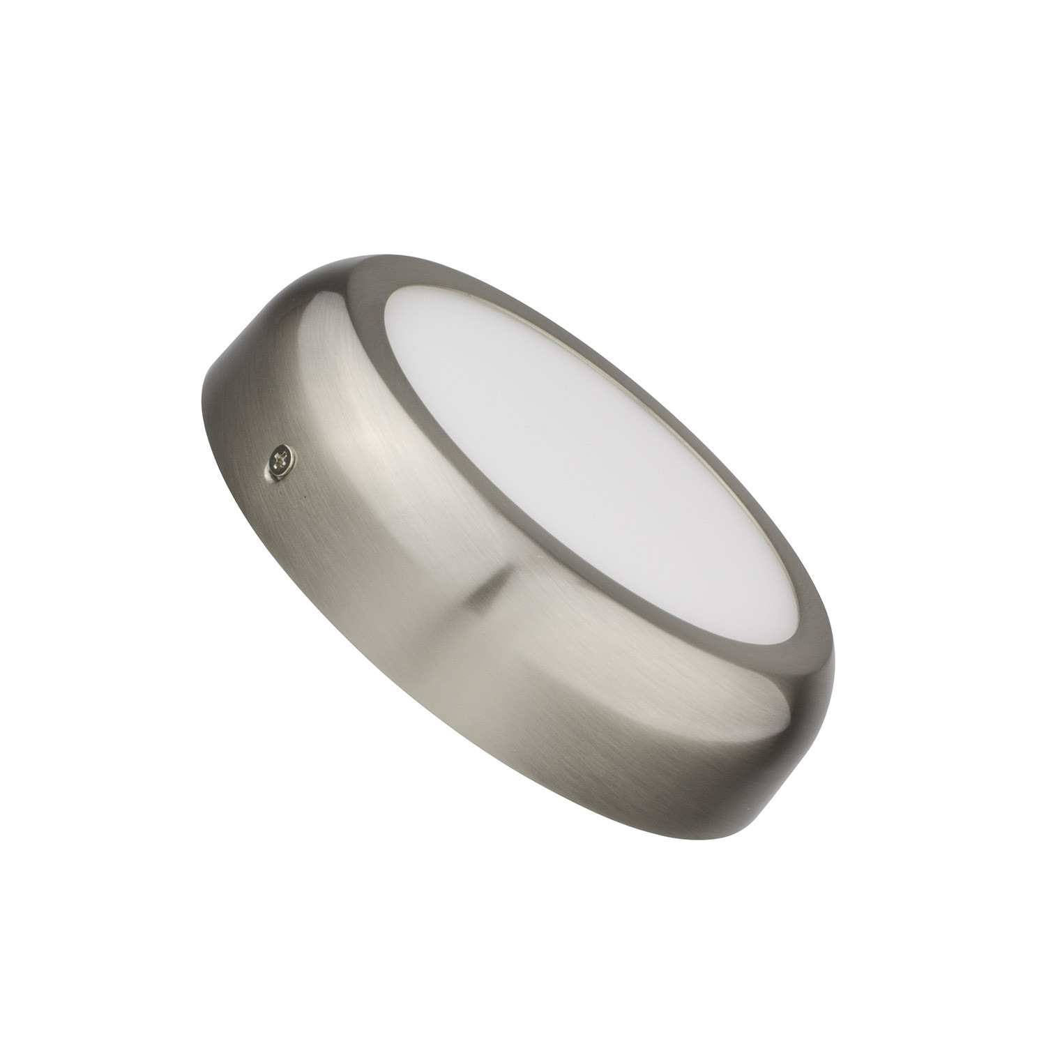 Placa Superfície LED Circular Silver Design 12W