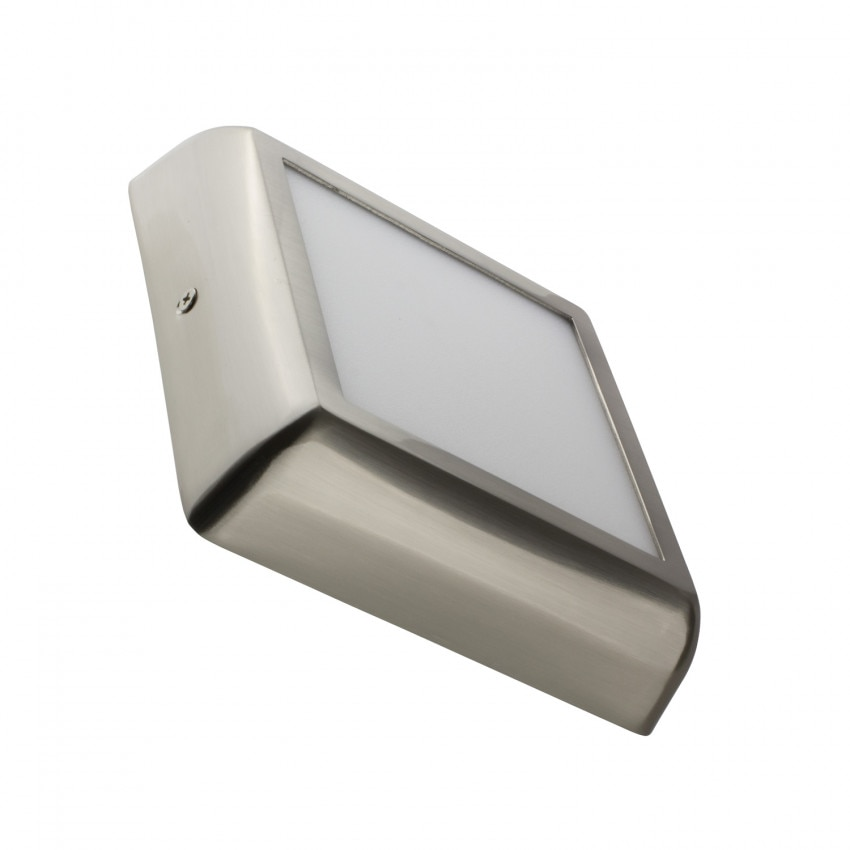 Plafón LED Quadrado Design 12W Silver
