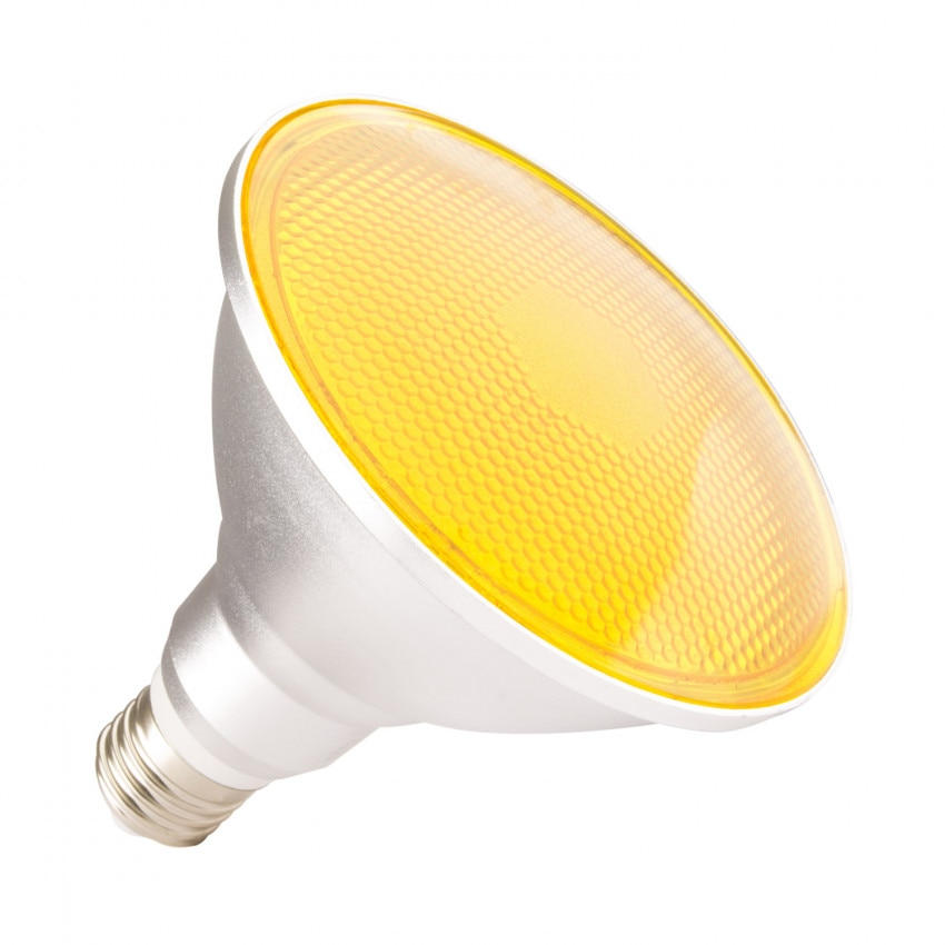 Lámpara LED E27 PAR38 15W IP65 Luz Naranja