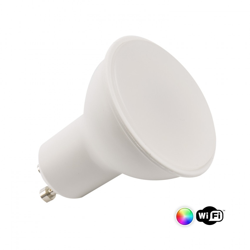 Lâmpada LED GU10 Smart WiFi Regulável RGBW 4W