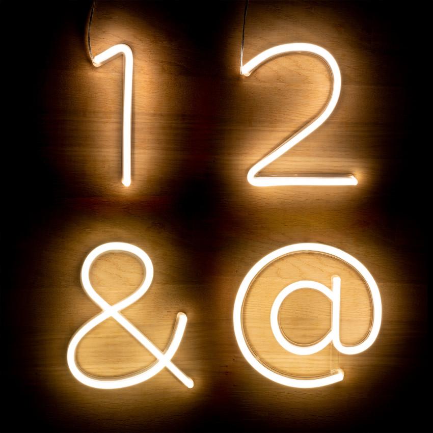 Numeros e Simbolos Neon LED