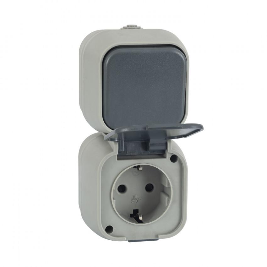 Interruptor Simples Conmutado e Tomada tipo F Schuko IP54