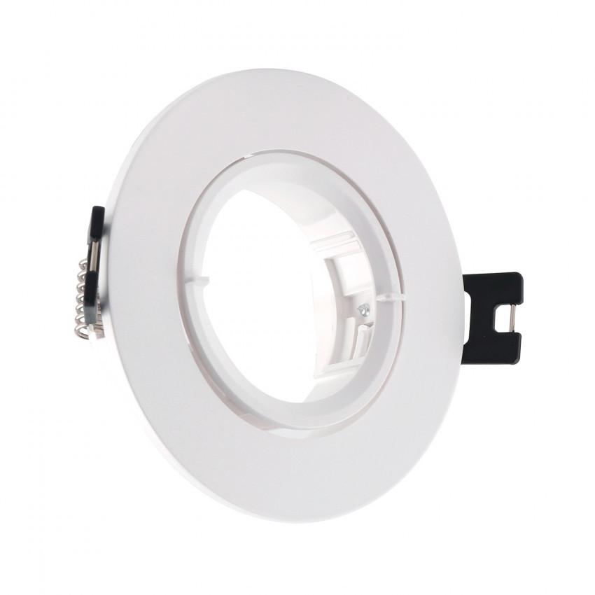 Aro Downlight Circular Inclinável de PC para lâmpadas  LED GU10 / GU5.3 Corte Ø 70 mm