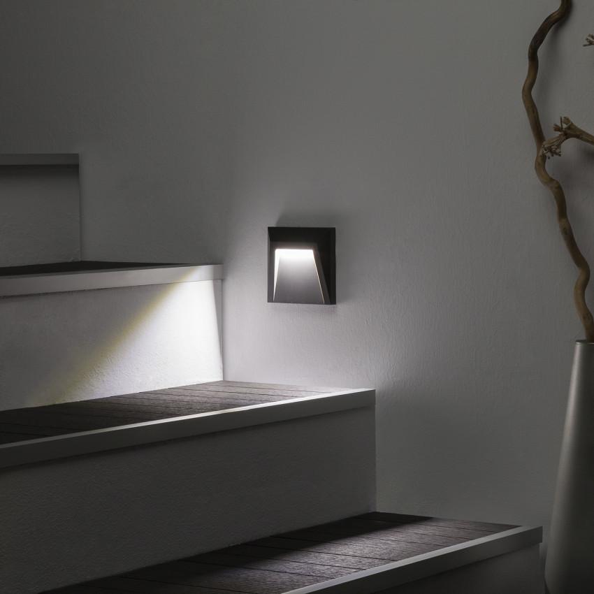 Baliza LED de Superficie Clover IP65 1.5W Cinzento