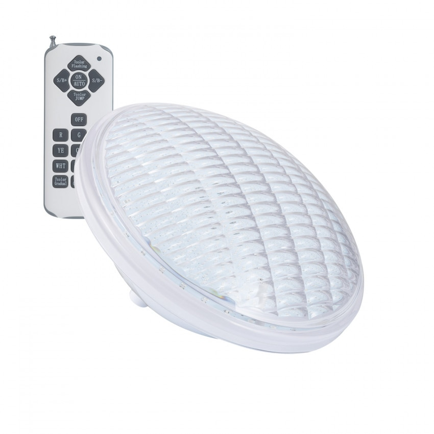 Bombilla LED RGB PAR56 Piscina Sumergible PC IP68 12V AC/DC 18W