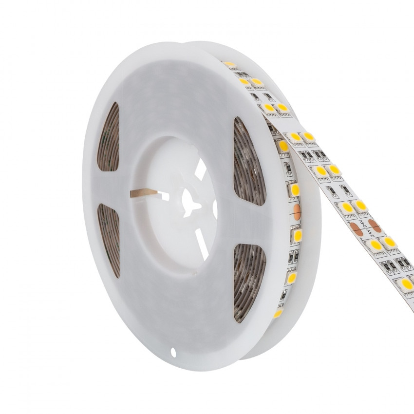 Tira LED 24V DC 120LED/m 5m Doble Ancho IP20