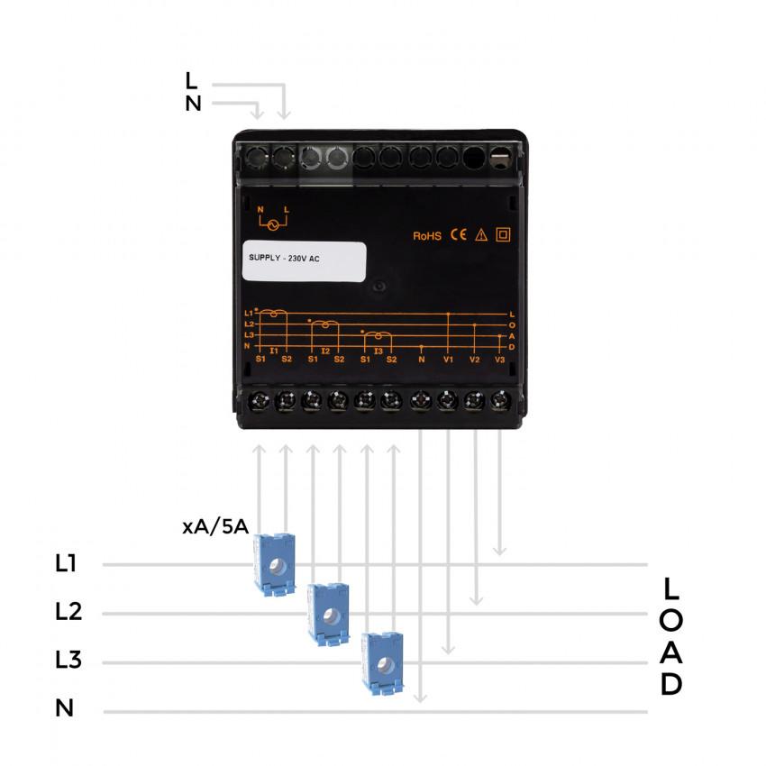 Pack Analizador de Redes + 4 Transformadores de Intensidad