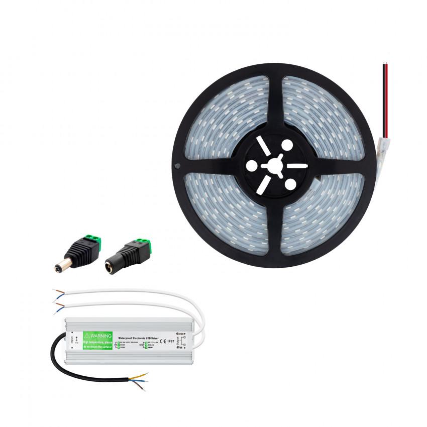 Kit Tira LED 12V 70W 120LED/m 5m IP67 Corte cada 5 cm con Fuente de Alimentación