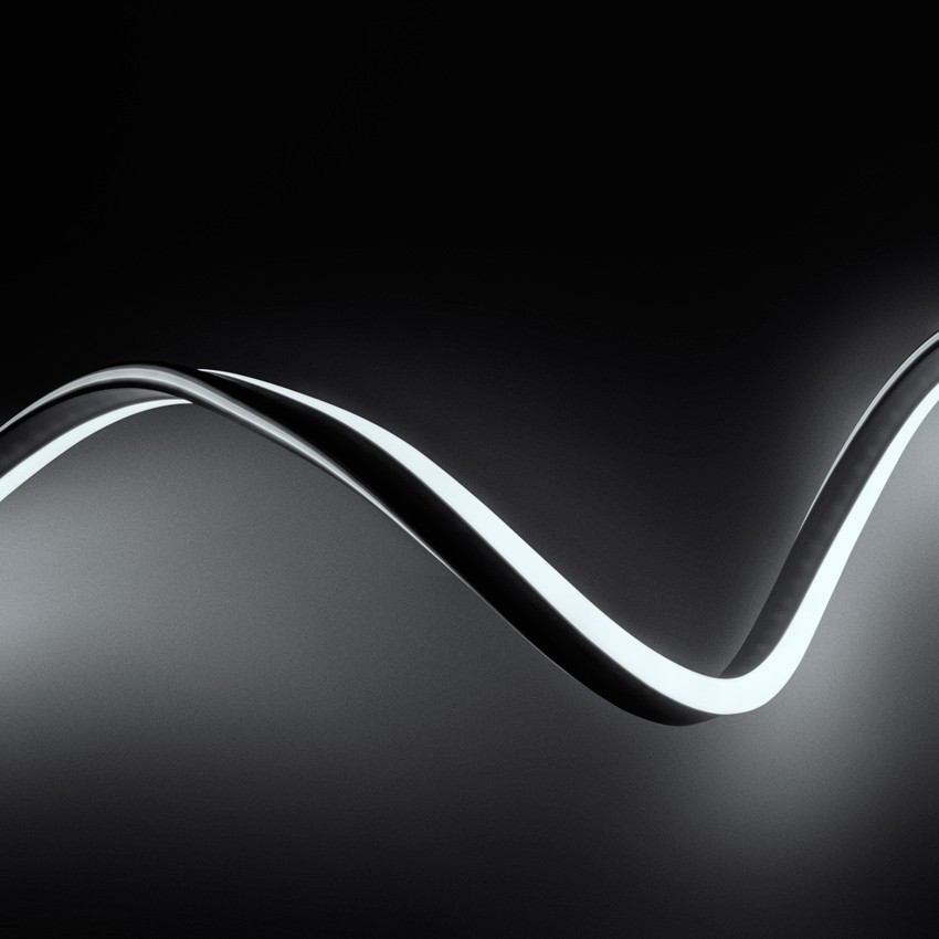 Tira Neón LED Regulable 220V AC 120 LED/m Blanco Frío a Medida