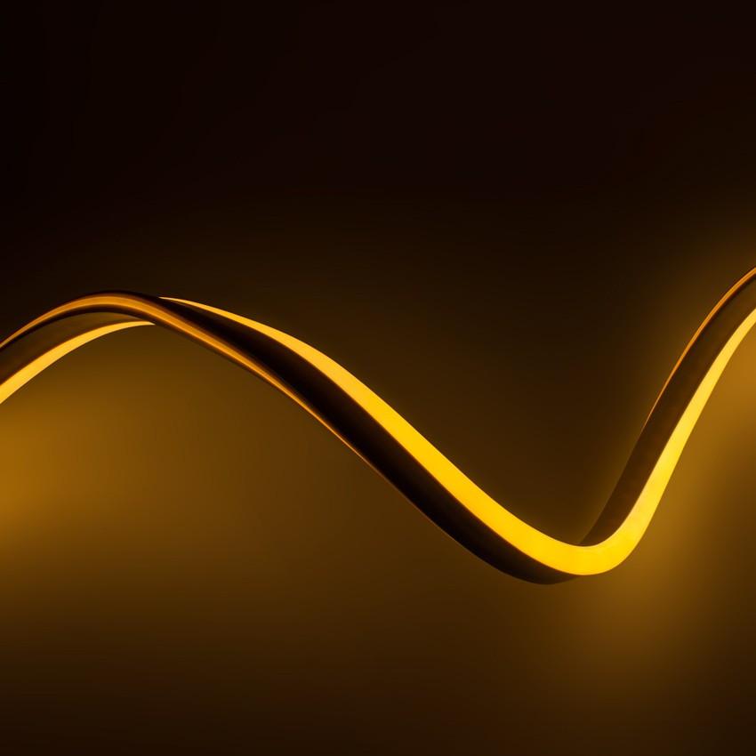 Fita Neon LED Regulável 220V AC 120 LED/m Laranja IP67 à Medida Corte a cada 100 cm