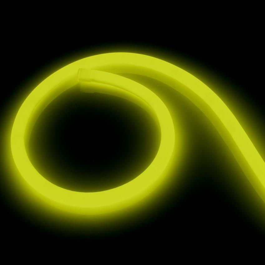 Tira Neón LED Regulable 220V AC 120 LED/m Circular 360 Amarillo IP67 a Medida