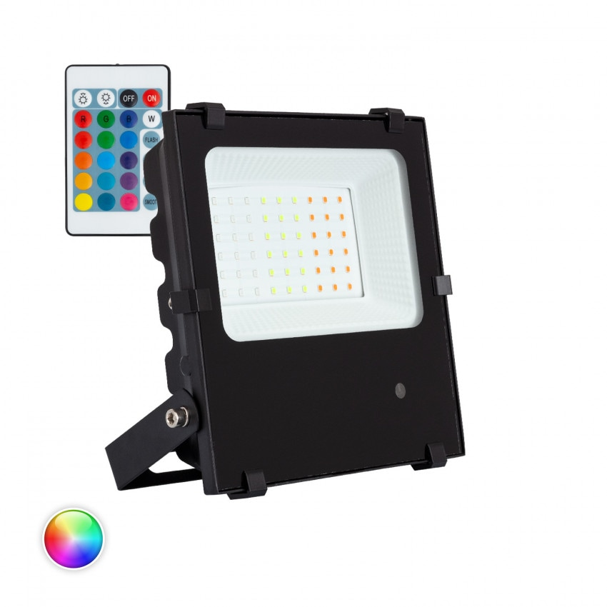 Foco Proyector LED 30W 135lm/W HE PRO RGB Regulable