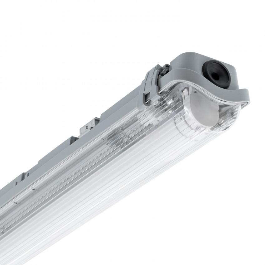 Armadura Hermética Slim para um Tubo de LED 1200mm PC/PC Conexão Uni-Lateral