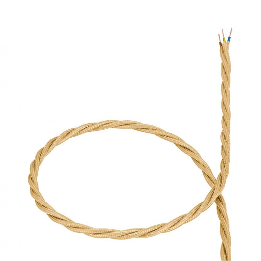 Cabo Têxtil Trançado Dourado
