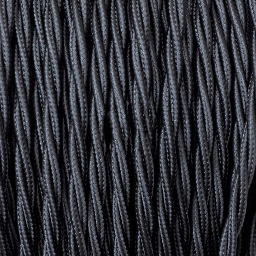 Cable Trenzado de Suspensión Blanco y Negro