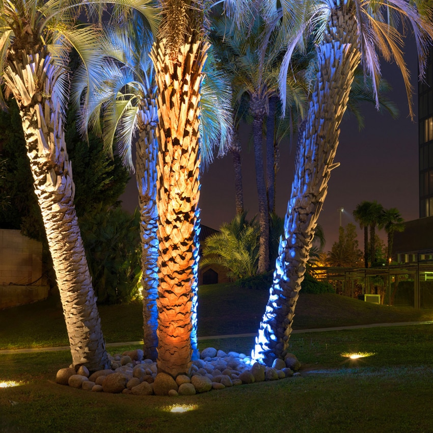 Foco LED Cirular Empotrable en Suelo Gea Power Led IP67 6W LEDS-C4 55-9663-CA-CL