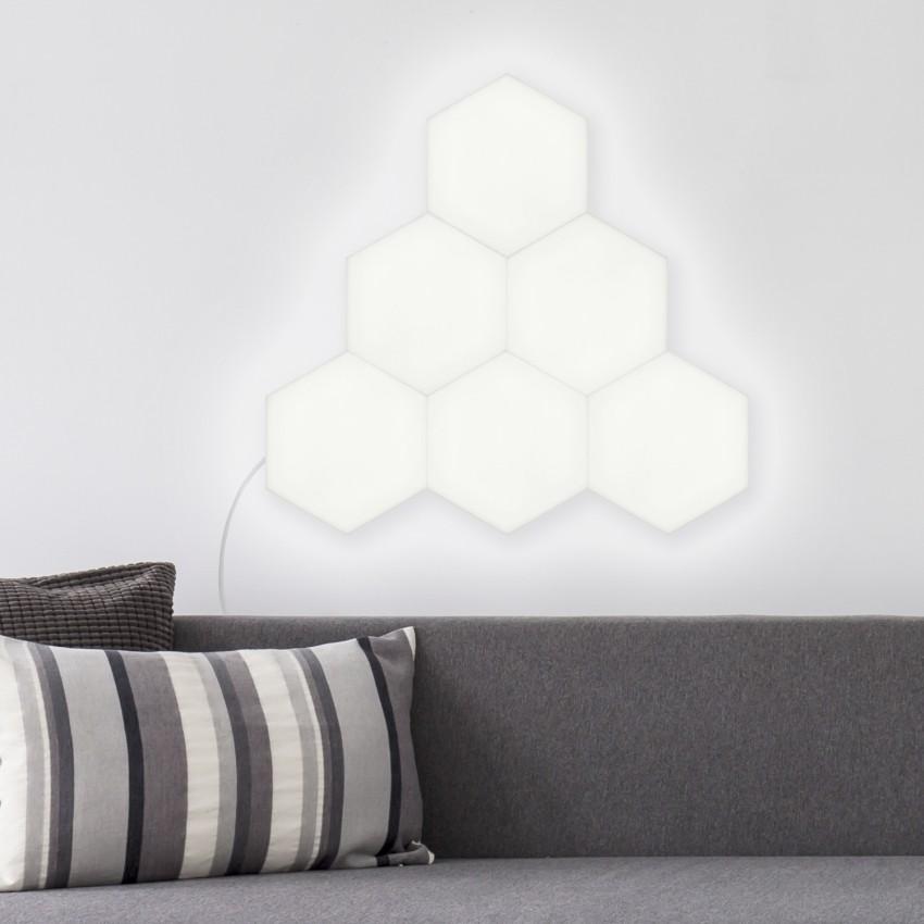 Painel LED Hexagonal 18x18cm 10W 800lm Base Principal