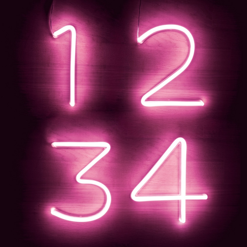 Números y Símbolos Neón LED Rosa