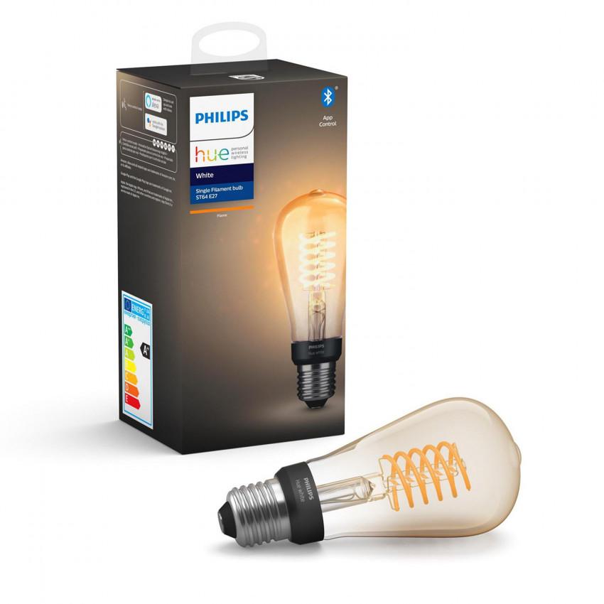 Bombilla LED E27 Filamento White ST64 Edison 7W PHILIPS Hue