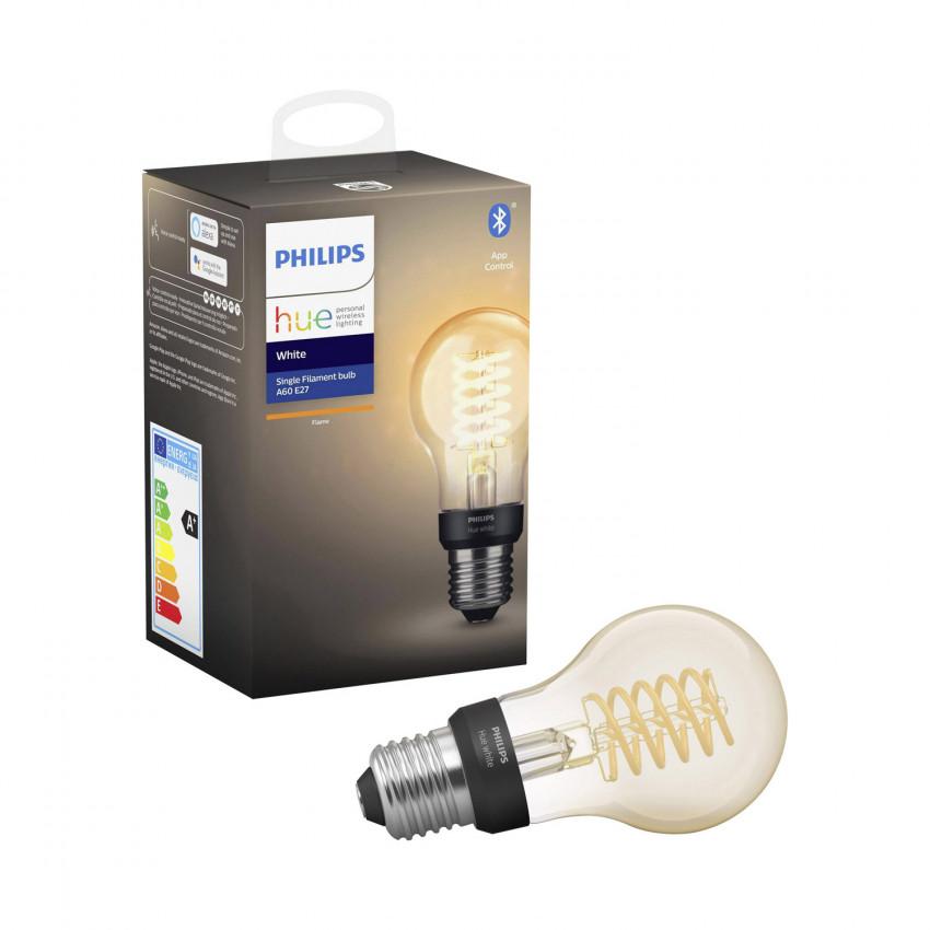 Bombilla LED E27 Filamento White A60 7W PHILIPS Hue