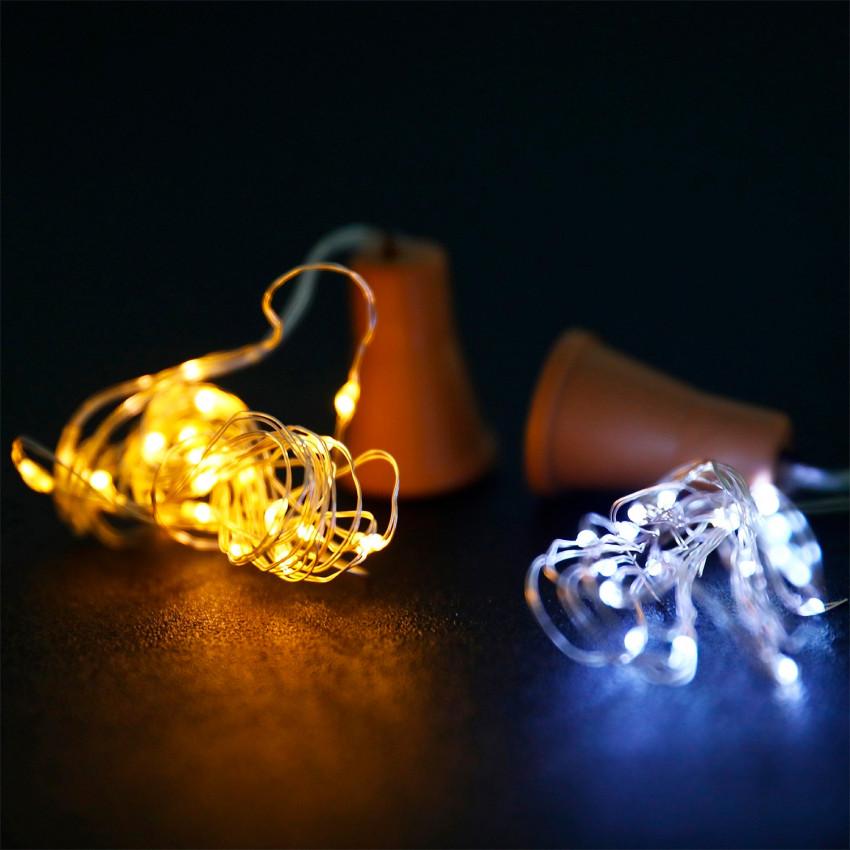 Guirnalda Alambre LED Solar para Botella
