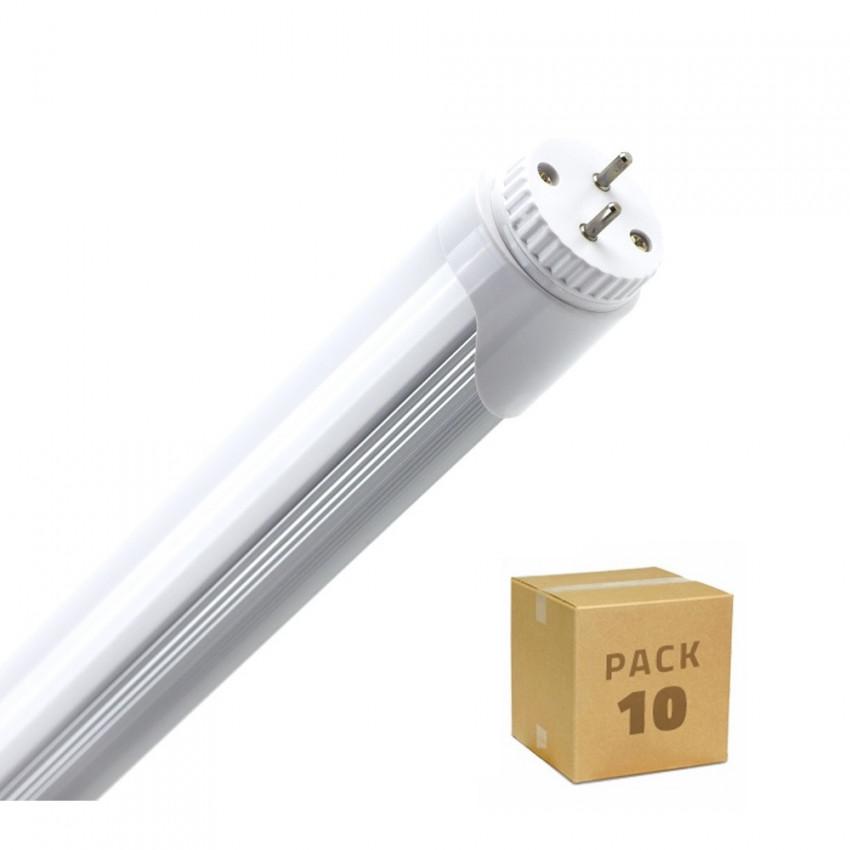 Caja de 10 Tubo LED T8 600mm Conexión un Lateral 9W 120lm/W Blanco Cálido