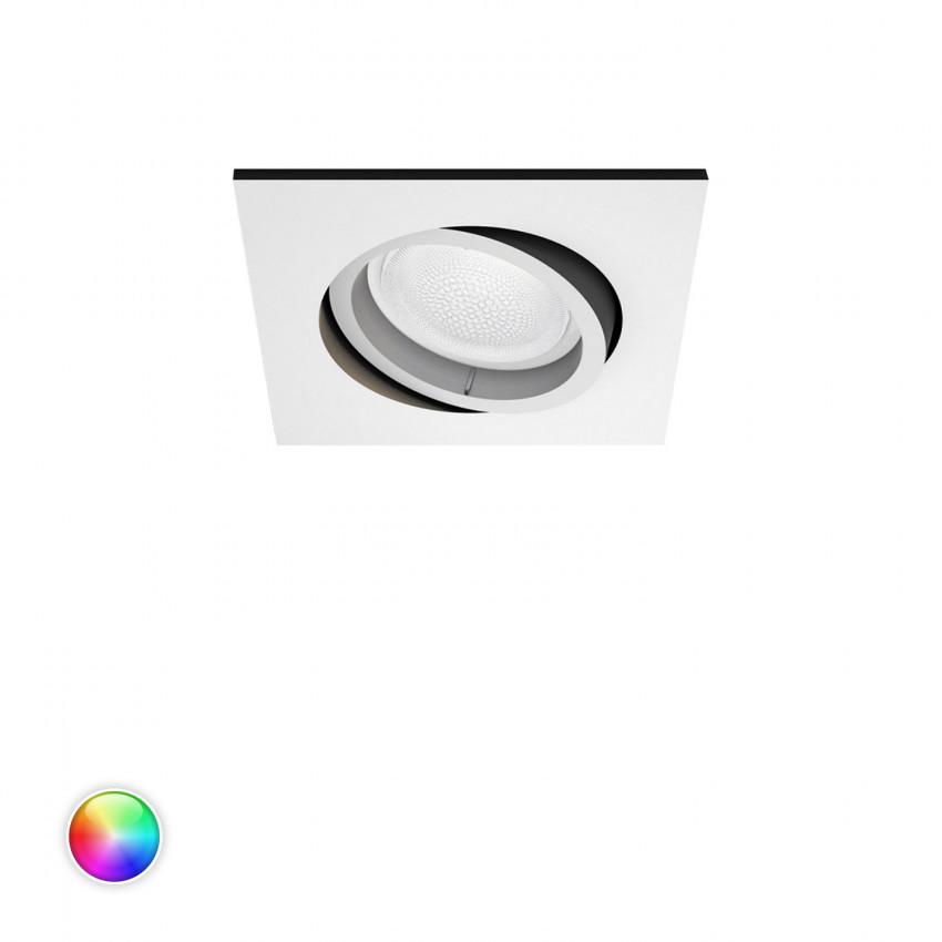 Downlight Cuadrado LED RGBW 6W PHILIPS Hue White Color Centura