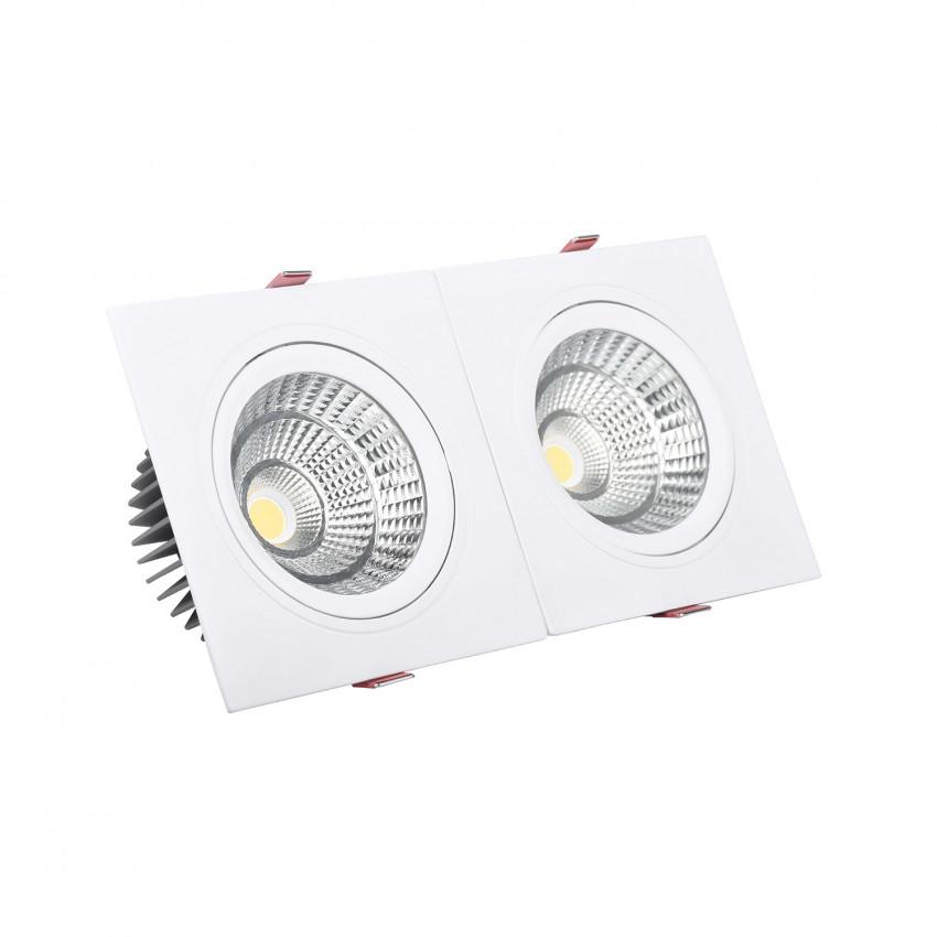 Foco Downlight LED 20W  Rectangular Doble New Madison Corte 205x90 mm