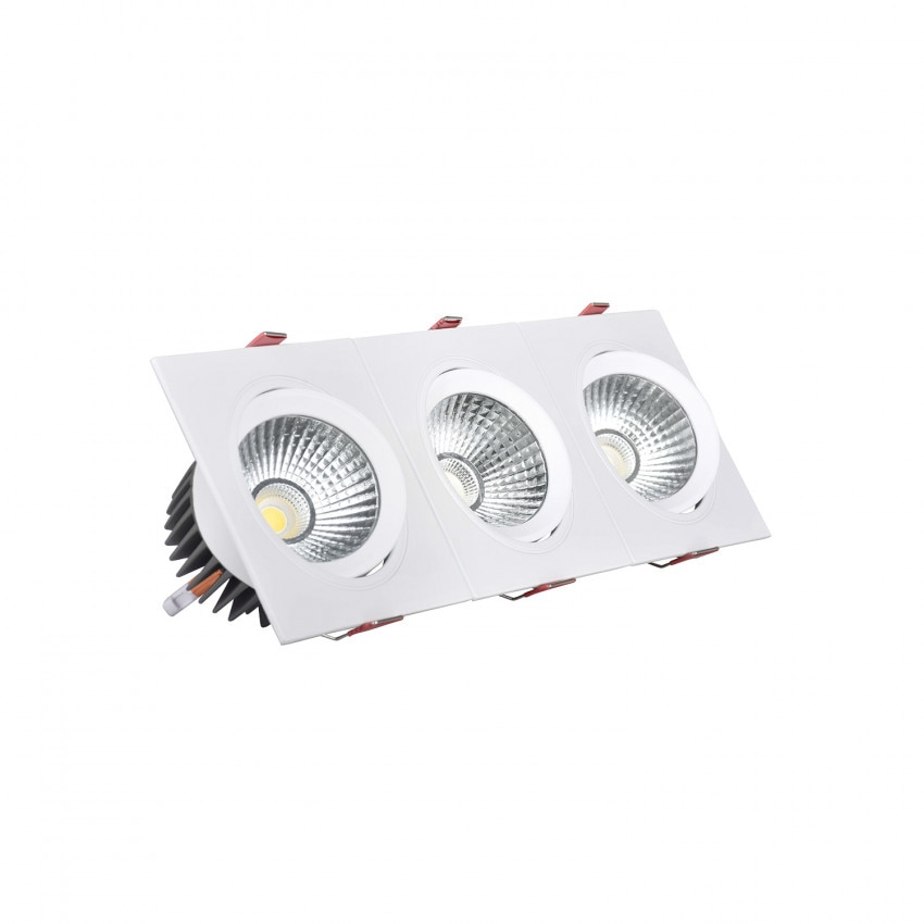 Foco Downlight LED Retangular Triplo New Madison 15W Corte 255x75 mm