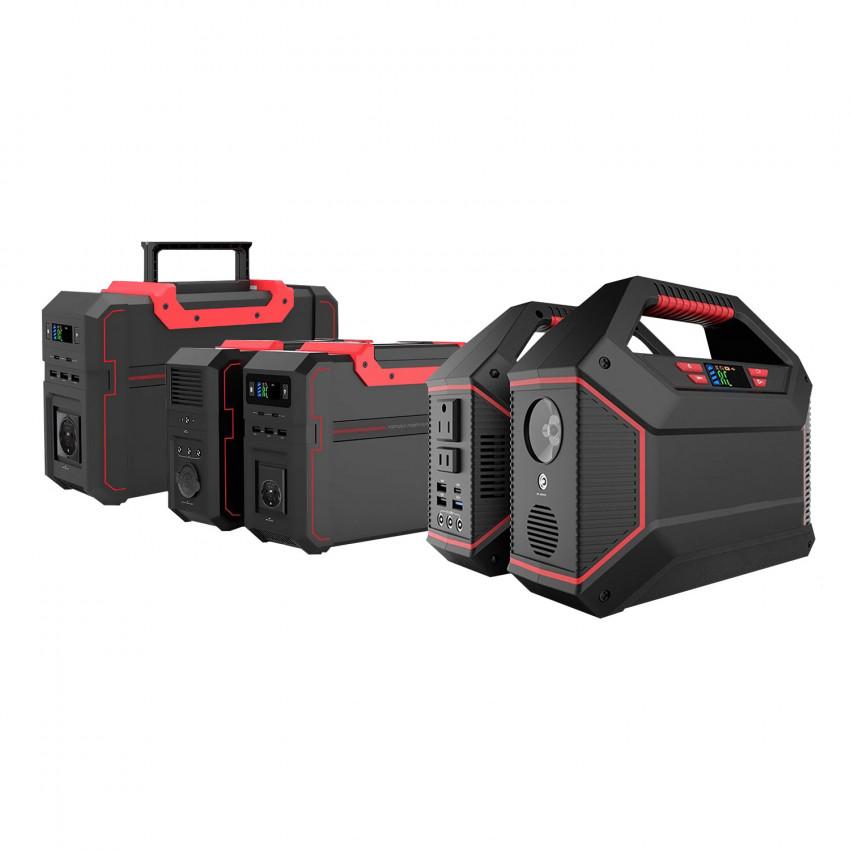 Bateria Gerador Portátil com Inversor de Corrente Saída Schuko e USB