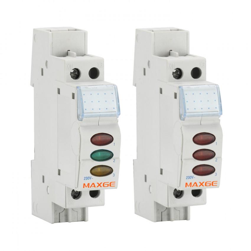Indicador Luminoso Triple LED MAXGE Alpha+ EPSLT 230VAC