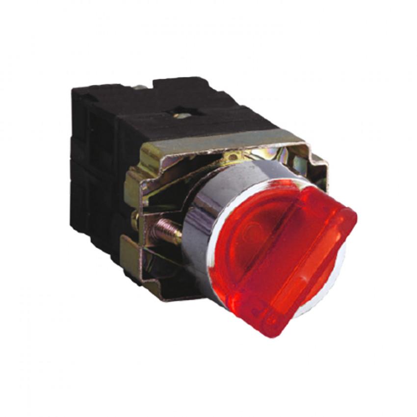 Seletor Luminoso MAXGE 2 Posições Branco 1NC+1NO