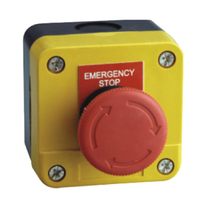 Caixa de Superfície com Botão de Pressão de Stop de Emergência Ø40mm