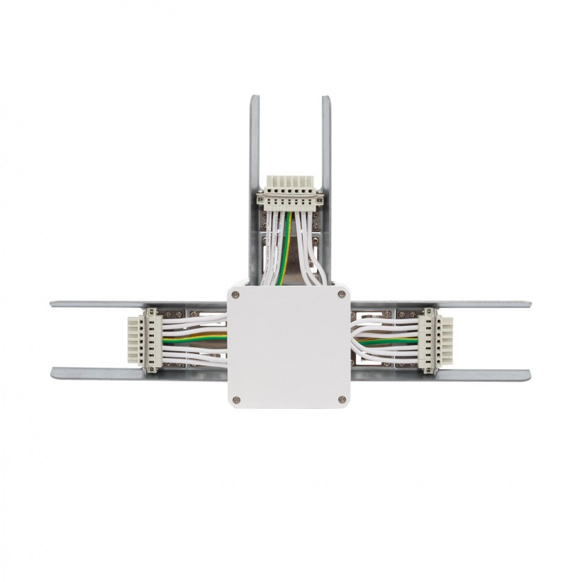 Conector Tipo T para Barra Lineal LED Trunking