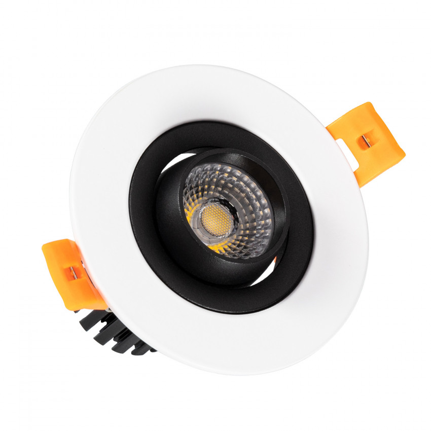 Foco Downlight LED COB Direccionável 360° Circular 7W Design Corte Ø 70 mm