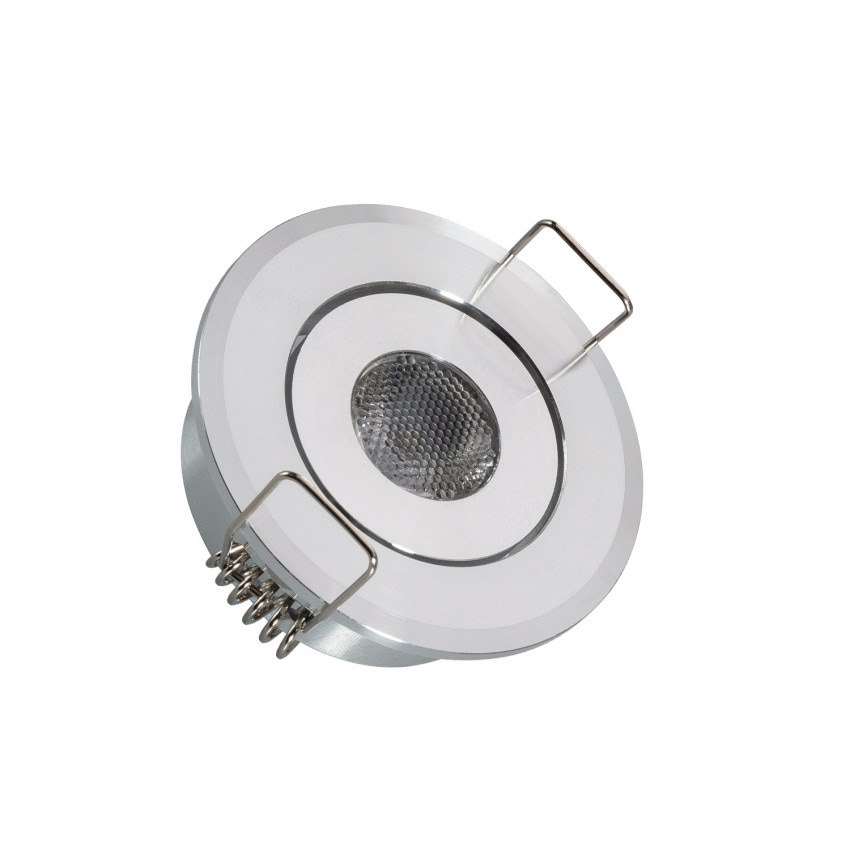 Foco Downlight LED 1W COB Direccionable Circular Corte Ø 45 mm