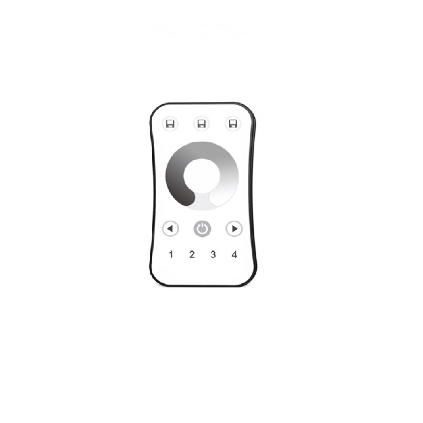 Mando RF para Reguladores RF Monocolor 4 Zonas