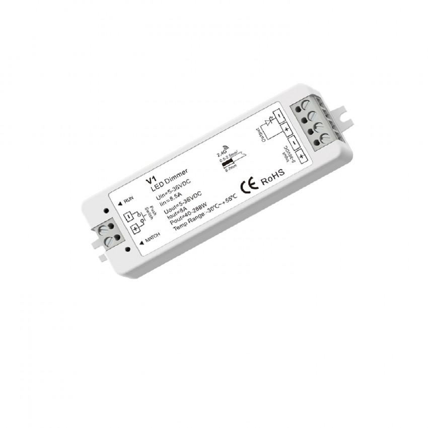 Controlador Fita LED Monocor 1 Canal por Controlo Remoto RF e Botão