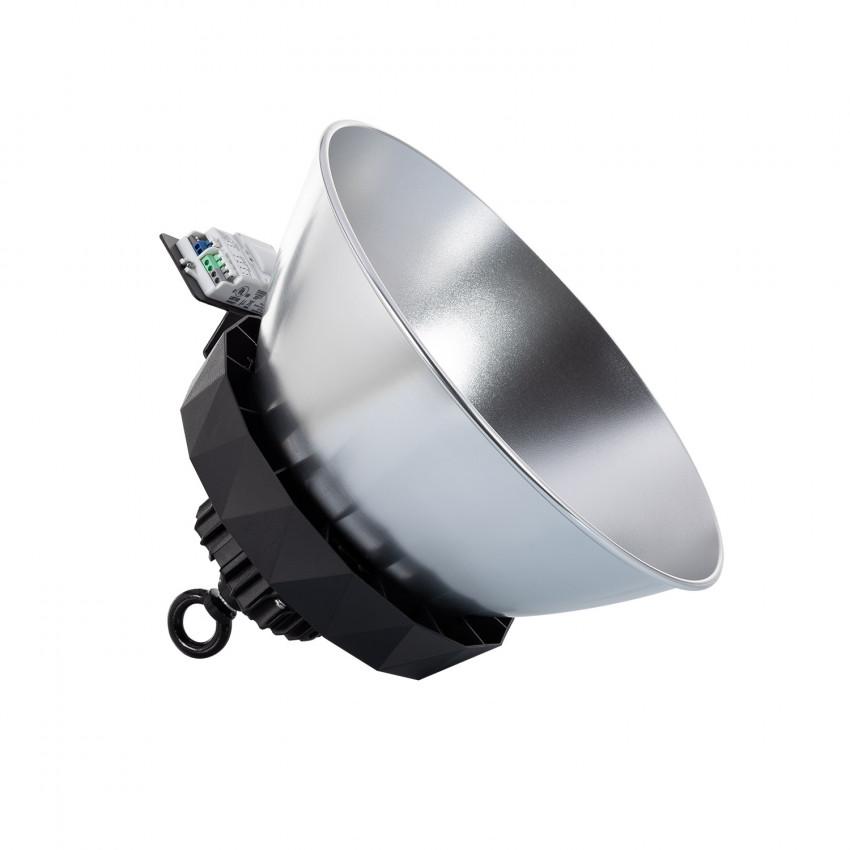 Campânula LED UFO HBS SAMSUNG 200W 175lm/W LIFUD Regulável No Flicker com Sensor Mov., Crep. e Refletor