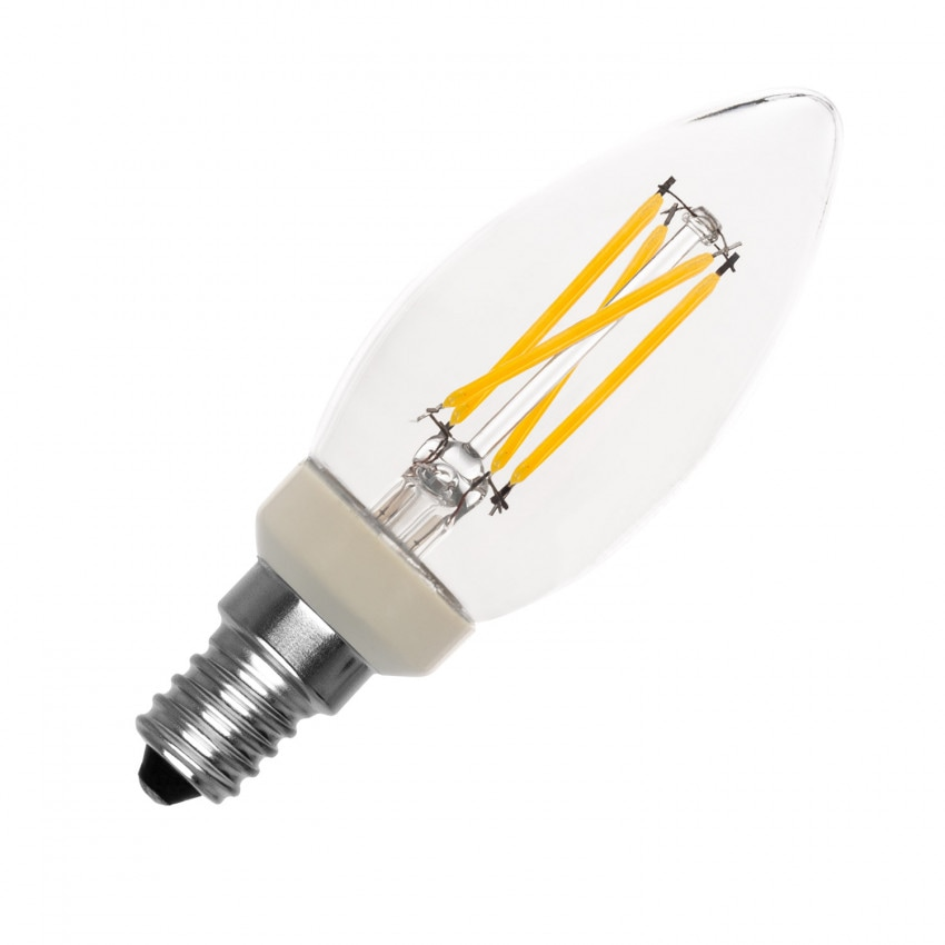 Bombilla LED E14 C35 Regulable Filamento PHILIPS Candle 3.5W